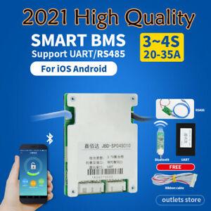 Smart BMS 3S 4S 20A 30A 35A 12V Lifepo4 Li-ion Battery Protection PCB Bluetooth