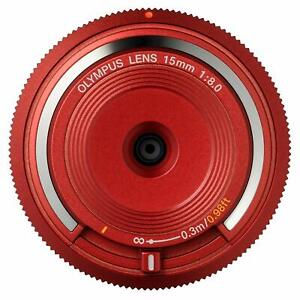 OLYMPUS Body Cap lens Micro Four Thirds RED Japan  BCL-1580