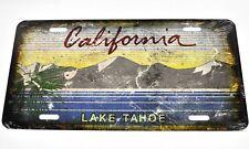 USA California Lake Tahoe Auto Nummernschild License Plate Deko Blechschild