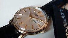 Lorenz reloj Automático hombre Mecánico en la piel Clásico Vintage caja oro