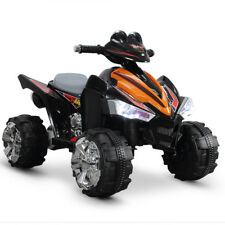 "25"" Kids Battery Powered ATV Quad 4 Wheeler Ride-On Car with 12V Motor, Orange"