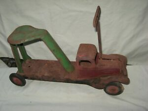 "Vintage Wyandotte Toys Pressed Steel Ride On Truck / 16"" Length  Missing 1 Wheel"