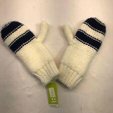 Crazy 8 Warm Winter Knit Mittens White Blue Stripe Kids Sizes