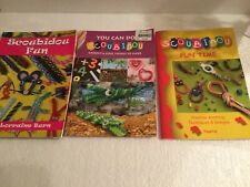 3 Different SCOUBIDOU Instruction Booklets full of ideas