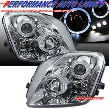 Set of Pair Projector Headlights w/ Halo Rims for 1997-2001 Honda Prelude