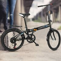 Leisure 20in 7 Speed ​​City Folding Mini Compact Bike Bicycle Urban Commuters