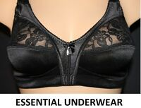 1 or 2X FIRM CONTROL SOFT SATIN CUP BRA UNPADDED NON WIRED FULL CUP SIZE 34B-48E