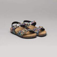 0213b26e6 Birkenstock RIO 1009455 Reg Kids Boys Girls Buckle Summer Sandals Mosaic  Black