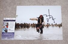 JOHNNY DEPP SIGNED PIRATES OF THE CARIBBEAN 8X10 PHOTO JSA COA PROOF JACK SPARRO