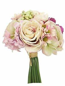 "Renaissance 2000 8"" Ranunculus Hydrangea/Daisy Artificial Bush"