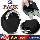 2 Pack Molle Nylon Open Top Handcuff Case Holder Pouch Fits Chain/Hinged Cuff US