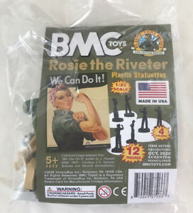 BMC Toys Rosie the Riveter WE CAN DO IT Plastic Statuettes, Pk of 12 Figures