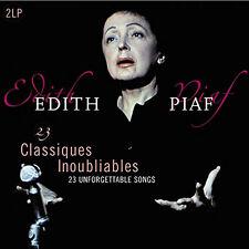 Edith Piaf 23 UNFORGETTABLE SONGS Gatefold BEST OF New VINYL PASSION 2 LP