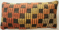 (25*50cm, 10*20inch) Handwoven kilim accent cover tribal textured weave