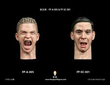 """Custom Male 1/6 Scale Angry Face Soldiers Man Head Sculpt F 12"""" Hot Toys Figure"""