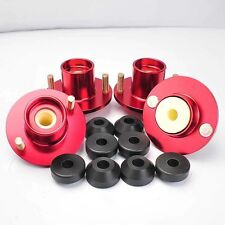 4PC 88-91 HONDA CRX 88-00 CIVIC EF EG EK DC COILOVER SHOCK MOUNT TOP HAT RED