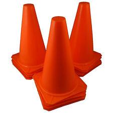 "9"" Inch Orange Cones (Set Of 12) Sports Agility Traffic Field Road Soccer ~ Usa"