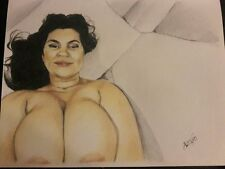 original 8.5x11 drawing of nude latin woman done by artist ARTuro