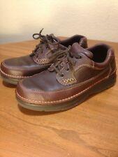 BASS Mens 9M Brown Leather Pebble Grain Mens Shoes Leon