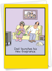 NobleWorks - Happy Father's Day Greeting Card Funny - Humor for Dad or Stepdad,