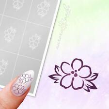 Schablonen für Airbrush und Nailart B214 Floral Blume Ranke Ornament 40x klebend