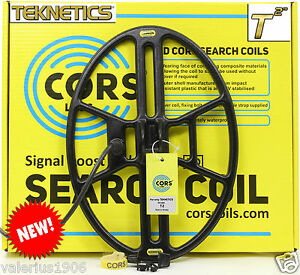 """New CORS CANNON 14.5""""x10.5"""" DD search coil for Teknetics T2 + coil cover + bolt"""
