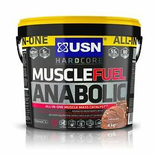 USN Muscle Fuel Anabolic All-In-One Muscle Mass Gainer 4kg Protein Powder Choco