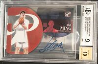 2002-03 TOPPS PRISTINE YAO MING ROOKIE CARD BGS 9 WITH 10 AUTO SUPER RARE!!!!!
