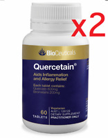2 x Bioceuticals Quercetain 60 Tablets NATURAL ANTI-HISTAMINE FREE POSTAGE