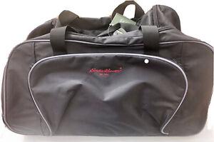 """Eddie Bauer Rolling Duffle Bag Luggage Black Travel Wheels Polyester 23x12.5x12"""""""