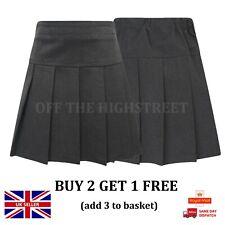 Girls School Skirt Grey & Navy School Pleated Skirt Uniform RRP £8-12