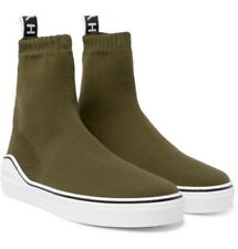 Givenchy George V Logo Jacquard Stretch Knit Green Sneakers Size 9 US / 42 EU
