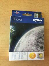 Brother LC1000Y / Genuine Original Yellow Inkjet Cartridge