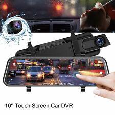 2019 Dual Lens 10'' HD 1080p Car DVR Video Camera Recorder Dash Cam LCD G-Sensor