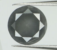 Natural Loose Diamond Round Steel Grey Color I3 Clarity 5.50 MM 0.61 Ct N8638