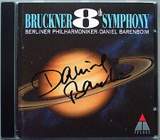 Daniel Barenboim firmato Bruckner Symphony No. 8 CD Filarmonica di Berlino 1994