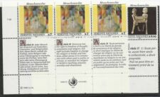 Les Nations Unies Scott #VIENNE 123-24, bandes of 3 1991 KIT COMPLET FVF MNH LL