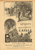 """1900 large french  advert for """"  belle jardiniere """" country sports !"""