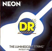 NEON nwa-11 Neon DR Bianco Luminescente/Fluorescent Chitarra Acustica stringhe di 11-50