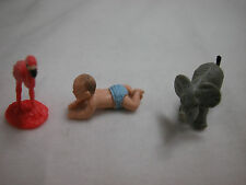"Doll House Miniature 1"" 3 Pieces Rubber Made Micro Mini Baby Animal #Z850C"