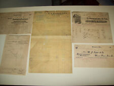4 ANTIQUE GROCERY BILLS AND 1 OVERDUE DRUG STORE STATEMENT 1899-1901