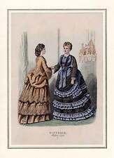 MODE - altkolorierter Modestich 1872