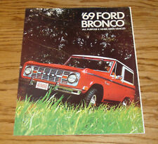 1969 Ford Bronco Foldout Sales Brochure 69