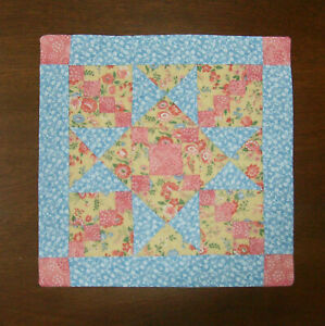 """Hitty or Kish Doll  Quilt  ~  7 3/4"""" by 7 7/8""""  ~  CROSSING OHIO"""