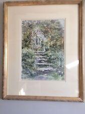 "Allan Morgan Watercolour "" Sunlit Steps"""