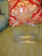 Blenko Clear Hand Blown Glass, Bottle, Vase, Water Carafe,