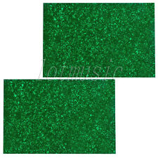 2*Guitar Bass Body Project Pickguard Plate Material 3ply,43X29cm Green Pearl