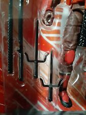 "1/12 scale Gi joe 6"" figure Classified series Cobra Red ninja melee weapon sai"