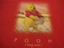 Winnie The Pooh The Disney Store Cartoon Kids Show TV Cute Red T Shirt L