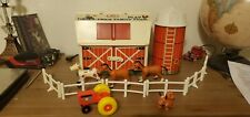 Vintage Fisher Price Little People ~ Play Family Farm ~ Barn/Silo/Animals/Fence